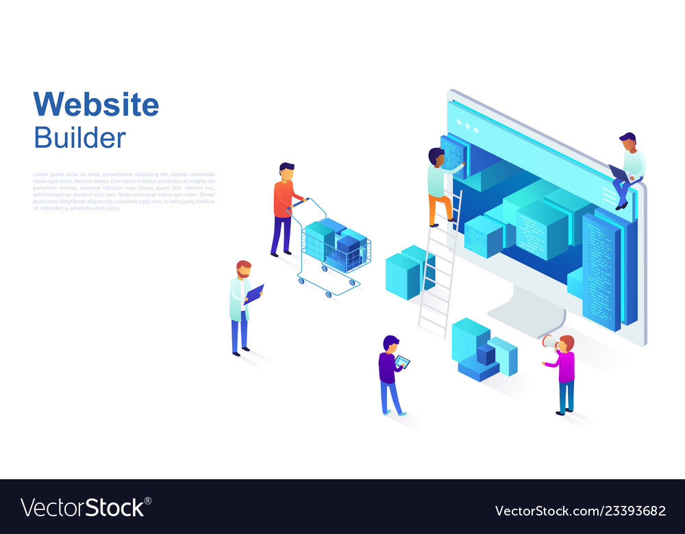 Team of programmers makes web page design site