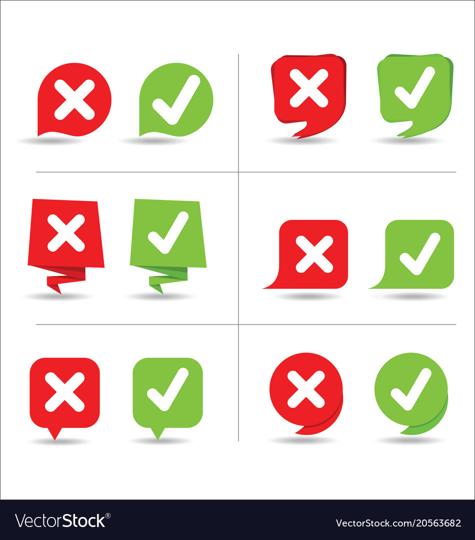 Yes and no sign vector image