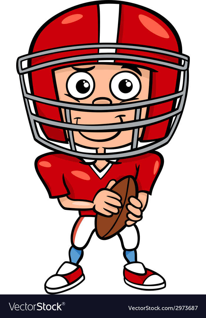 boy football player cartoon royalty free vector image