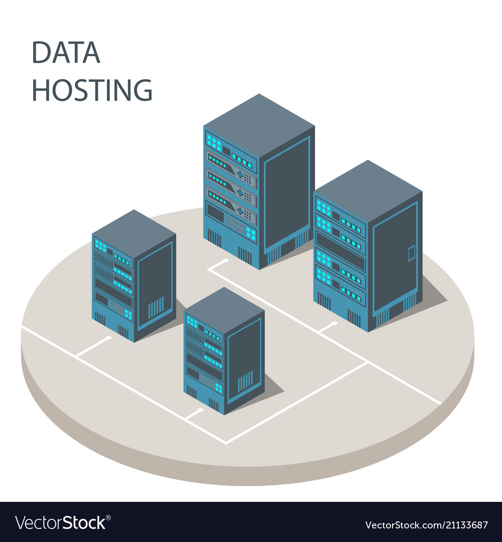 Data hosting cloud technology solutions concept