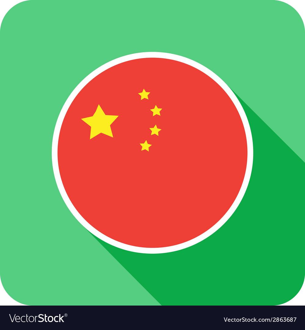 Flat china icon