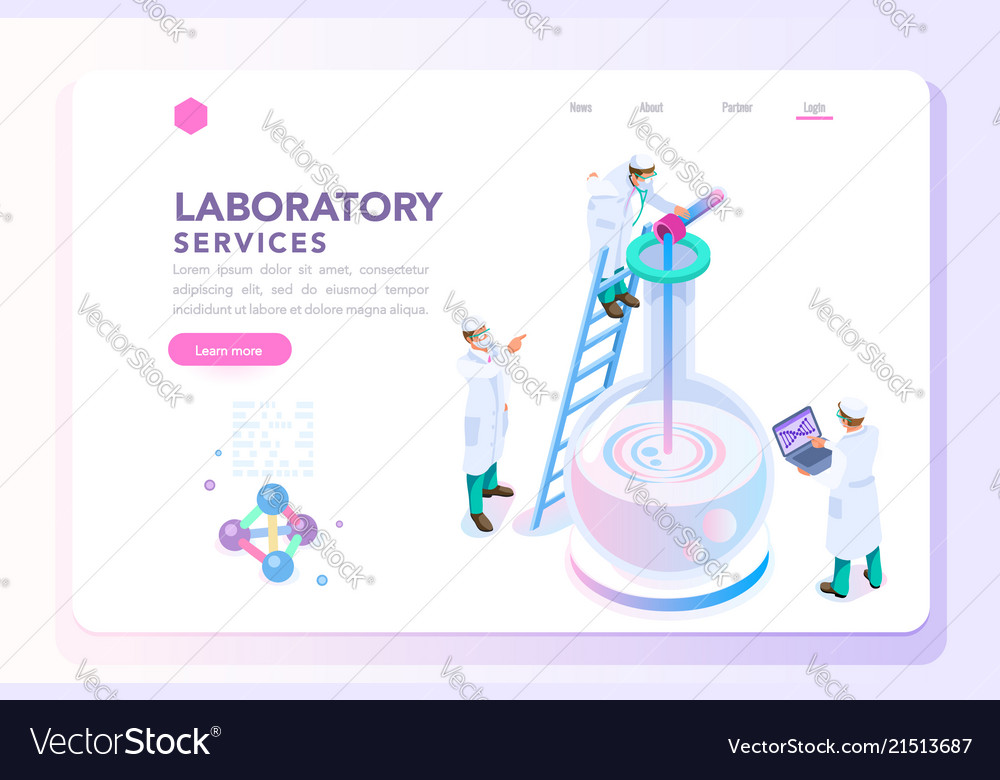 Health and beauty laboratory banner