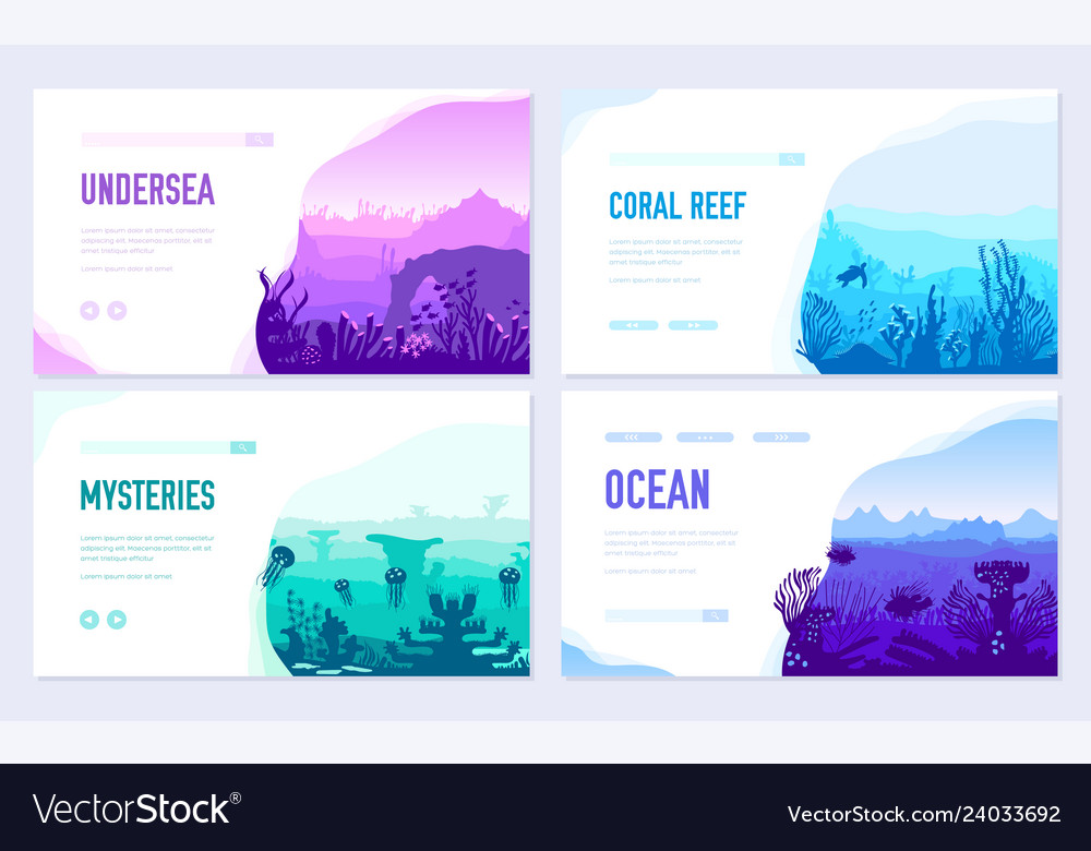 Dedicated to undersea brochure cards set