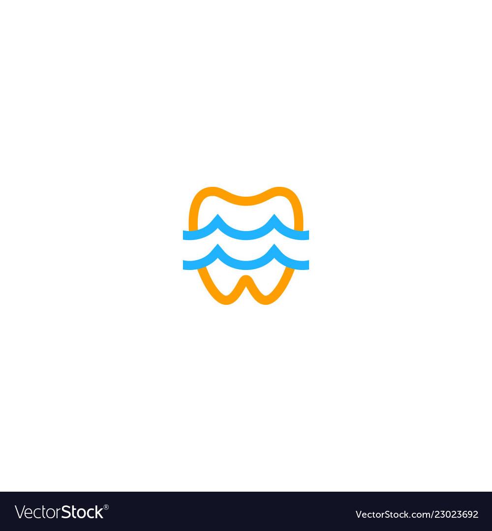 Dental tooth sign logo