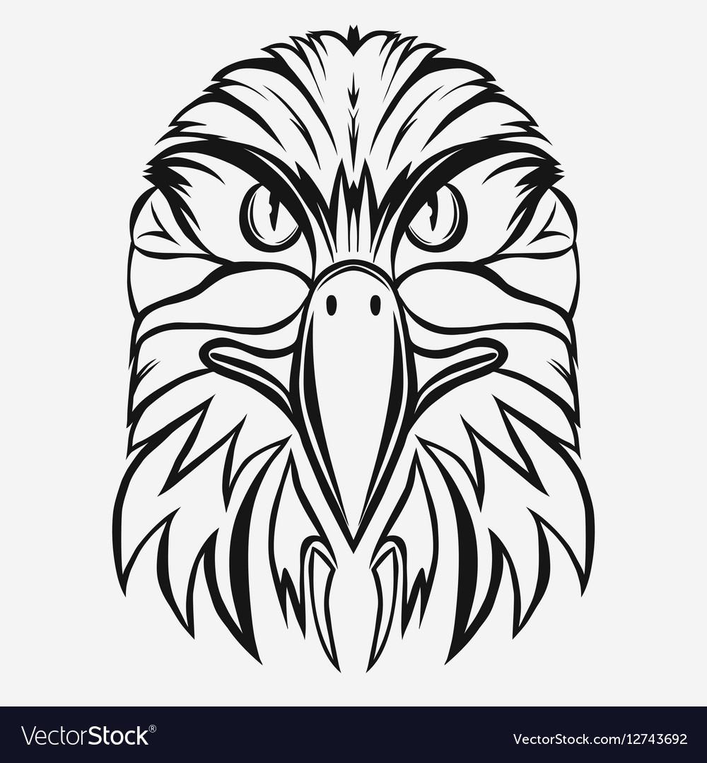 Eagle head logo vector image
