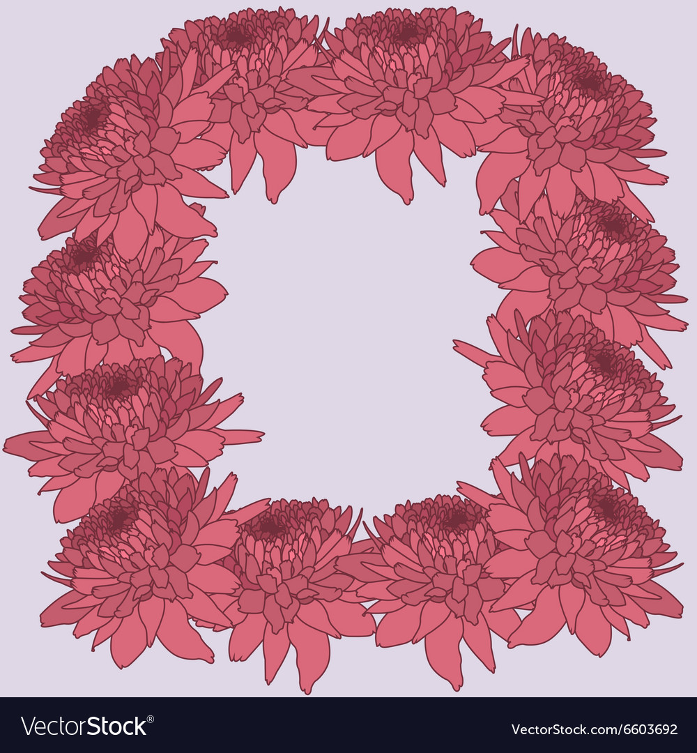 Mum frame floral background