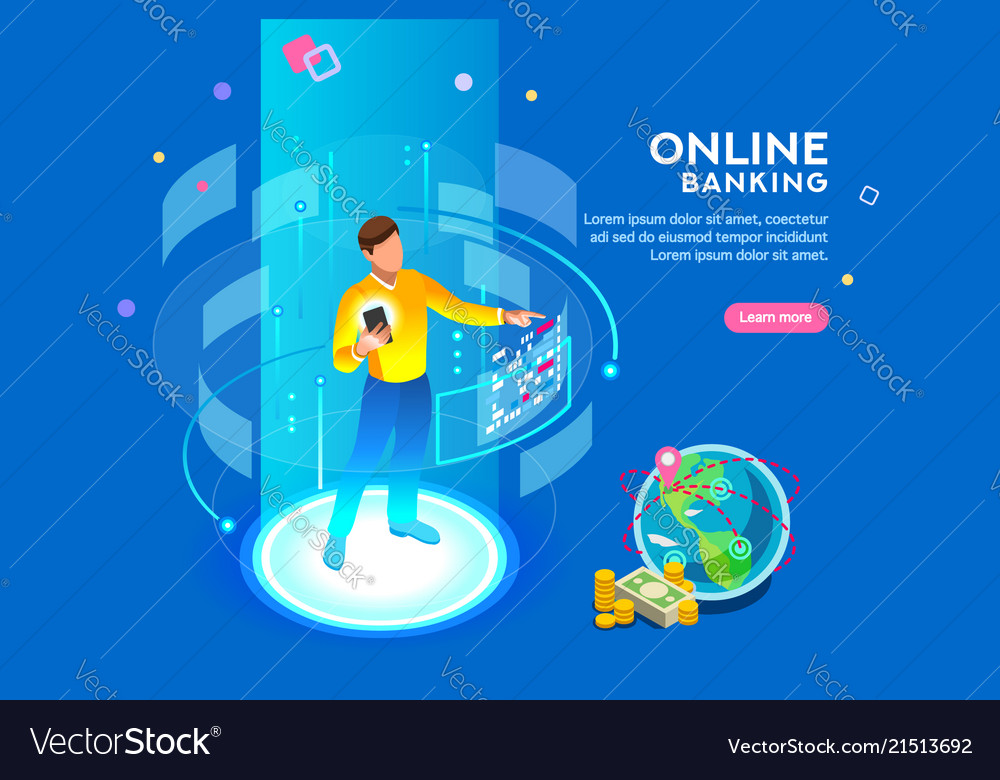 Online banking futuristic concept
