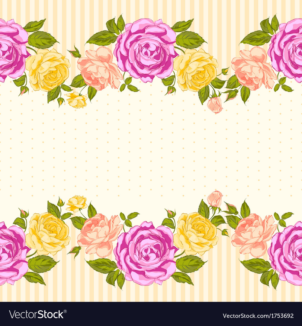 Rose frame invitation card royalty free vector image rose frame invitation card vector image stopboris Gallery