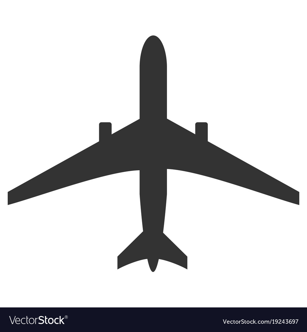 black and white plane icon isolated on background vector image rh vectorstock com vector planet vector plane wiki