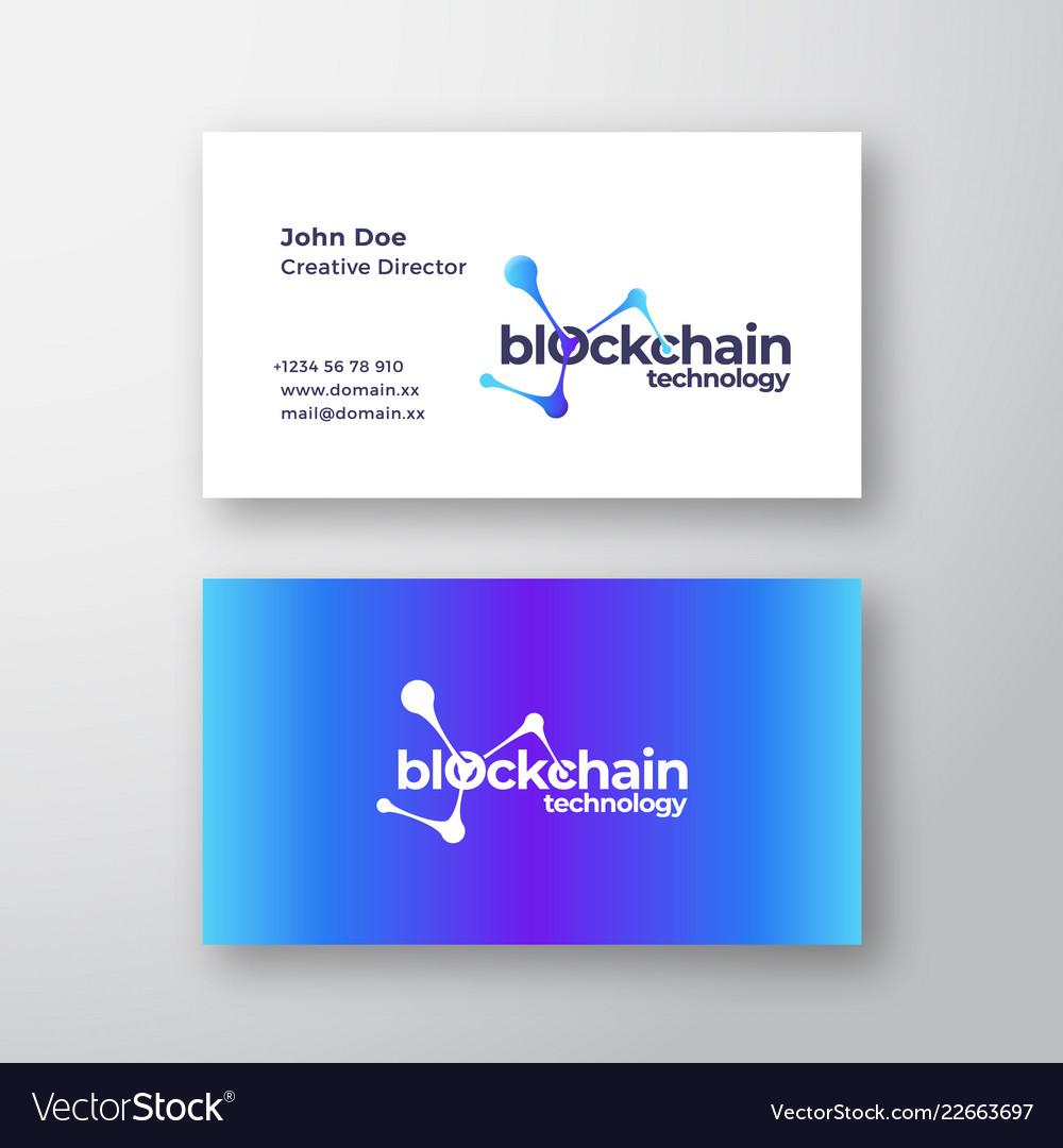 Blockchain technology abstract elegant logo