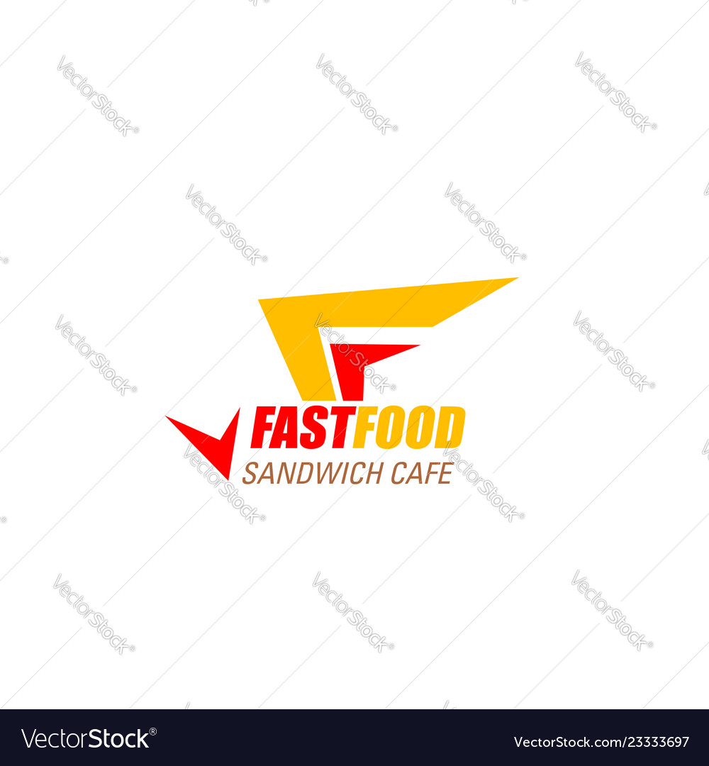 Fast food cafe letter f icon