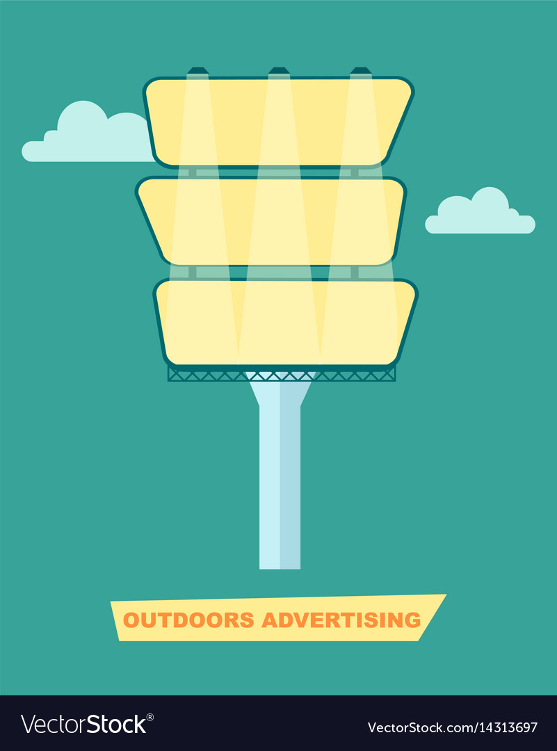 Outdoor advertising billboard poster vector image