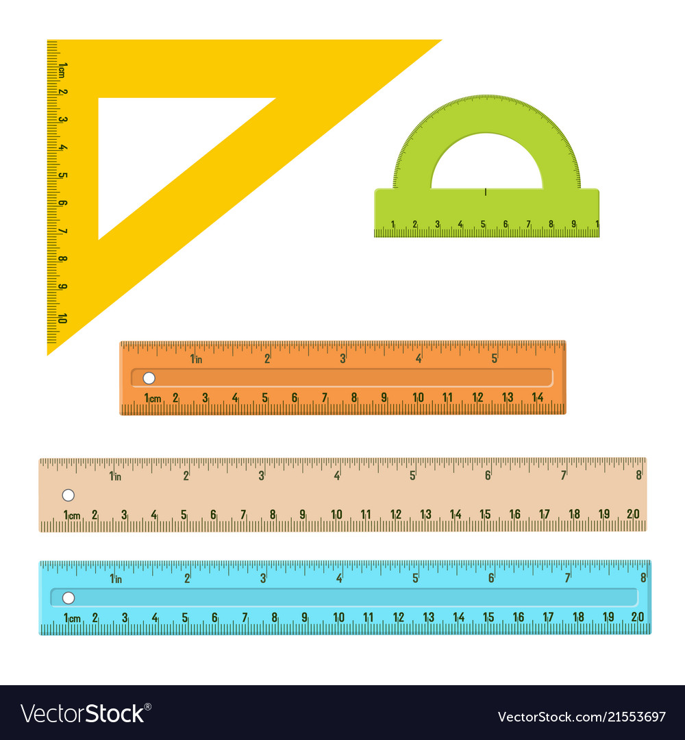 Plastic measuring rulers set