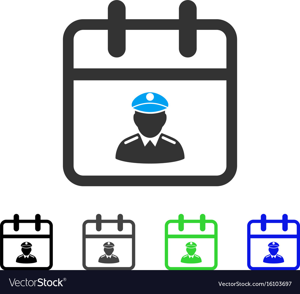 Police day flat icon vector image