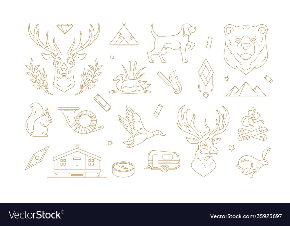 Set linear signs for nature and travel