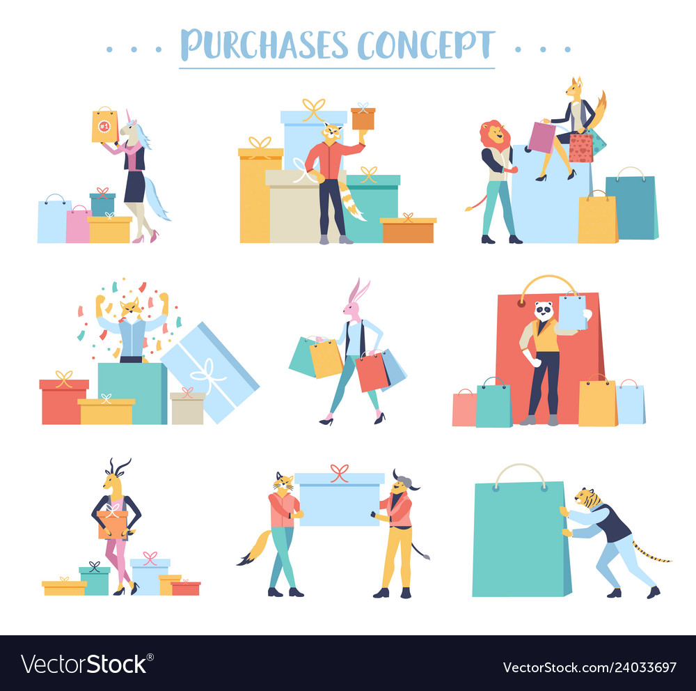 Shopping people concept purchase