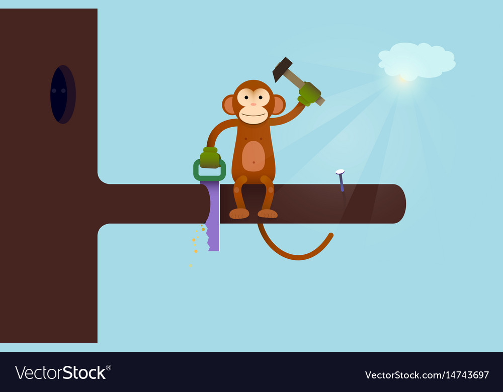 This webpage is under construction concept monkey