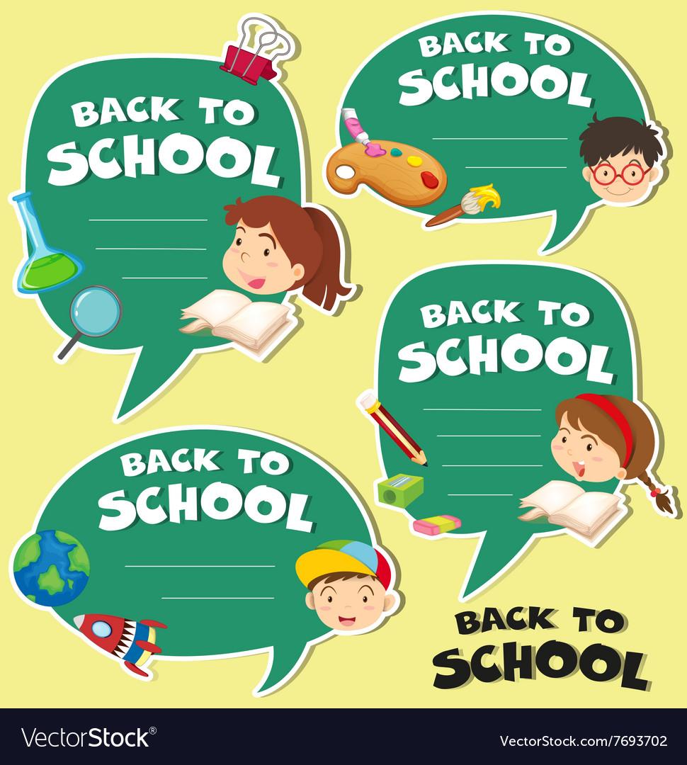 Back to school banner design