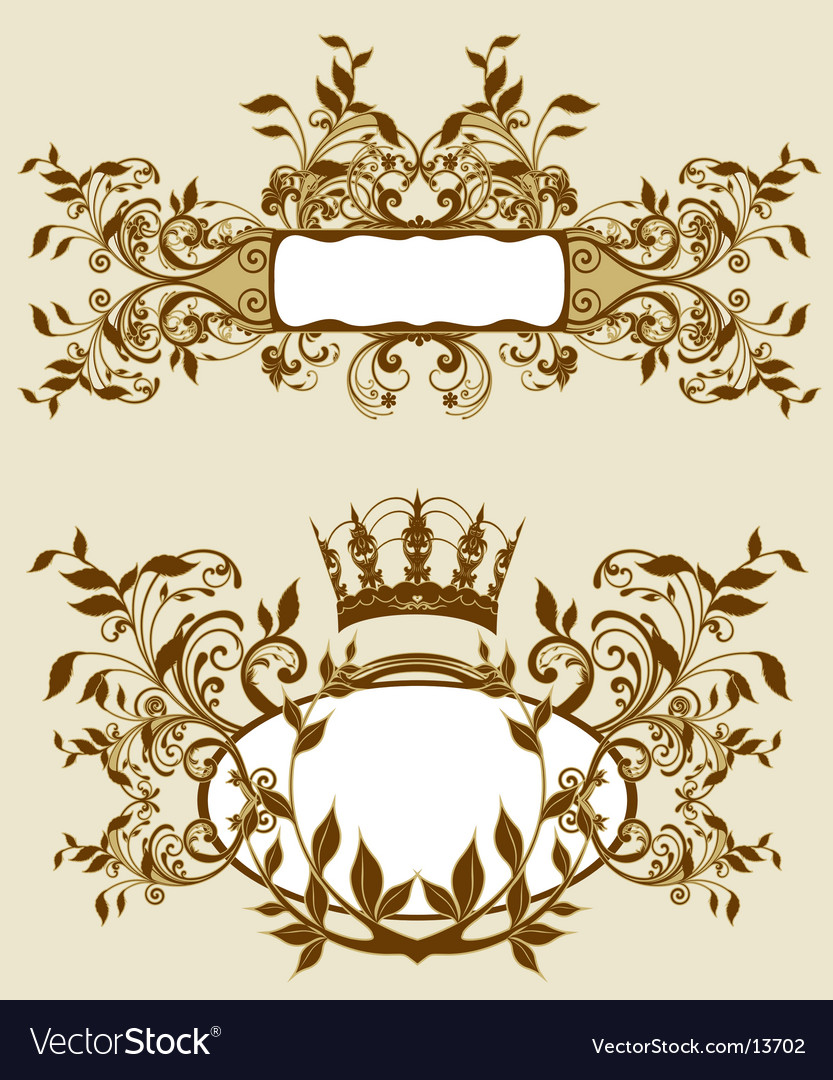 Baroque background vector image
