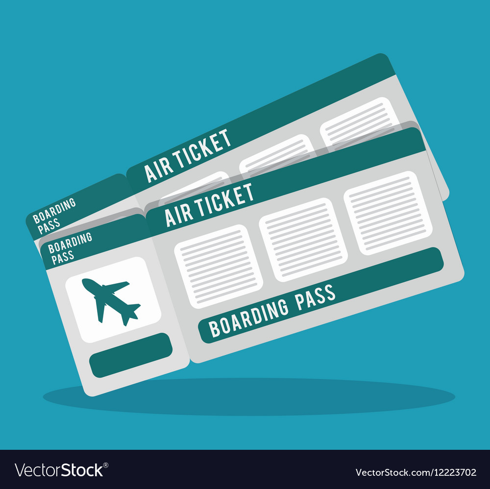 Boarding pass icon image