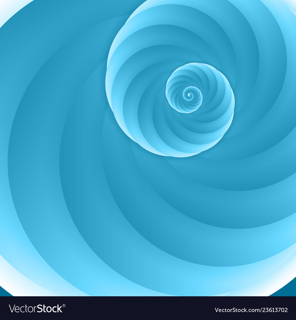 Cartoon with blue spiral background