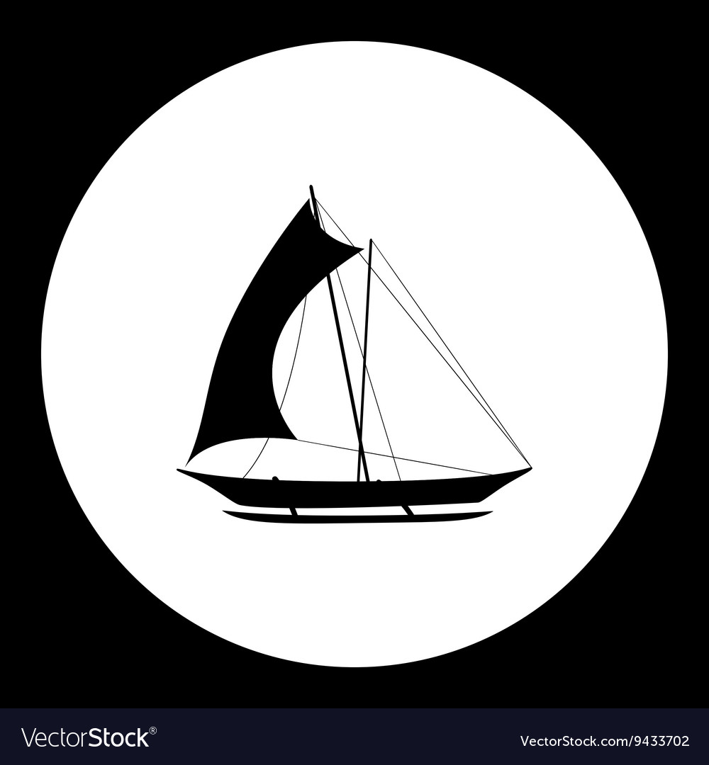 Catamaran boat simple isolated black icon eps10