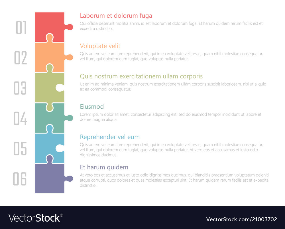 chart table design ranked numbered list royalty free vector