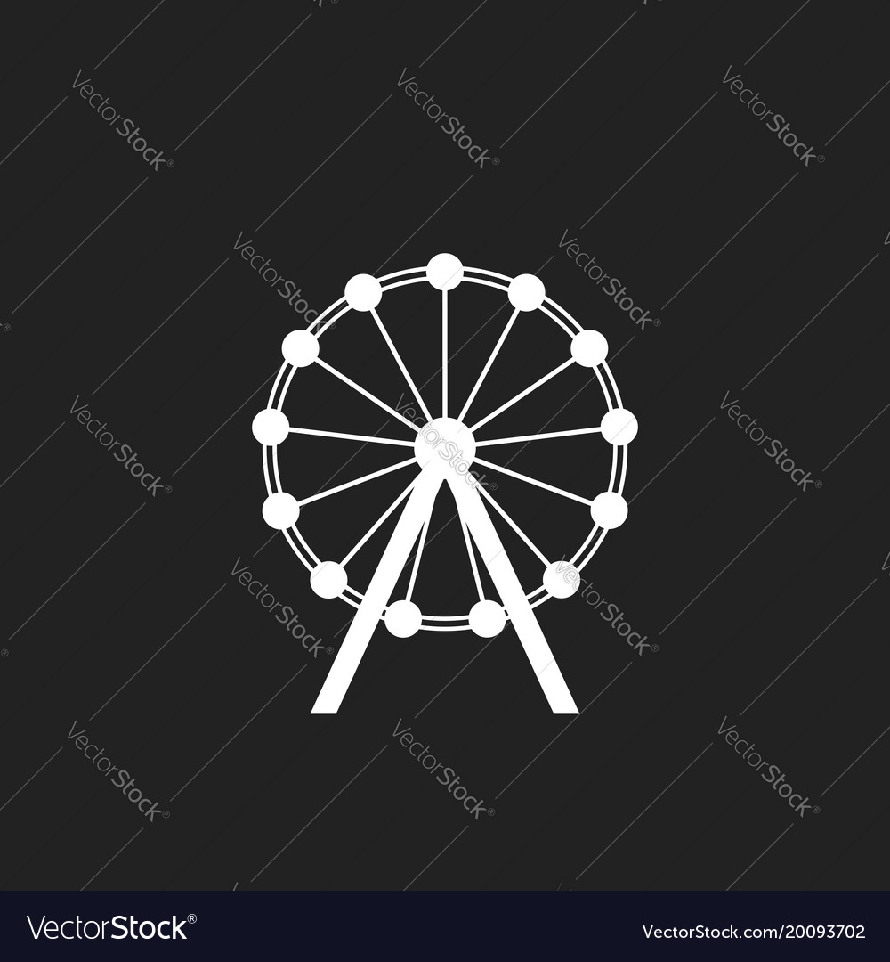 Ferris wheel icon carousel in park icon amusement
