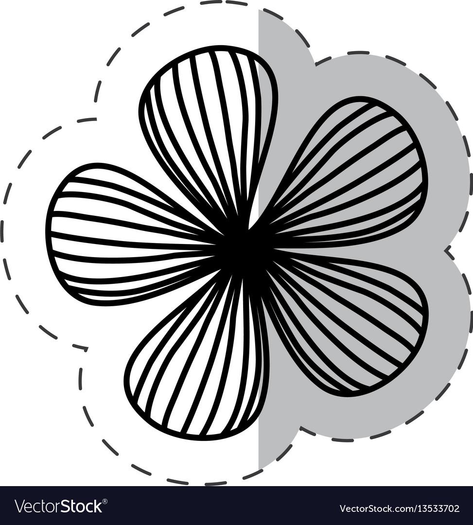 Flower natural plant cut line