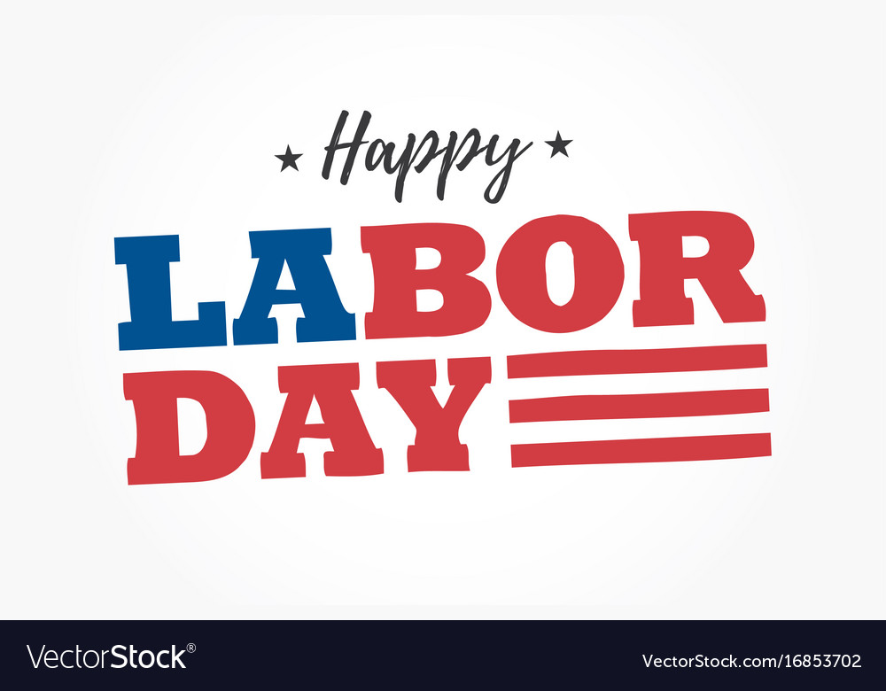 Happy-labor-day-logo vector image