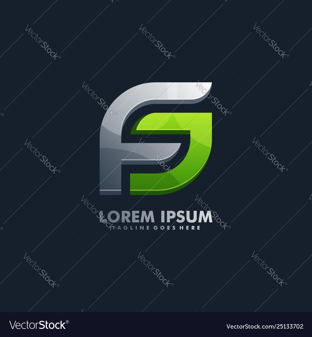 Letter f designs template