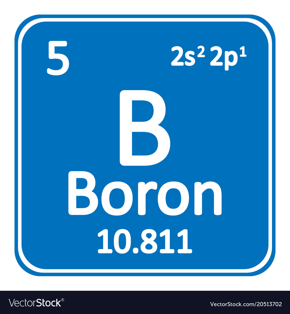 periodic table element boron icon royalty free vector image
