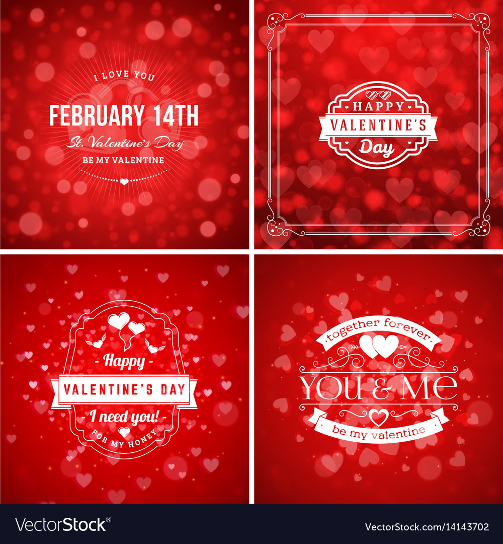 Set of valentines day greeting cards or poster
