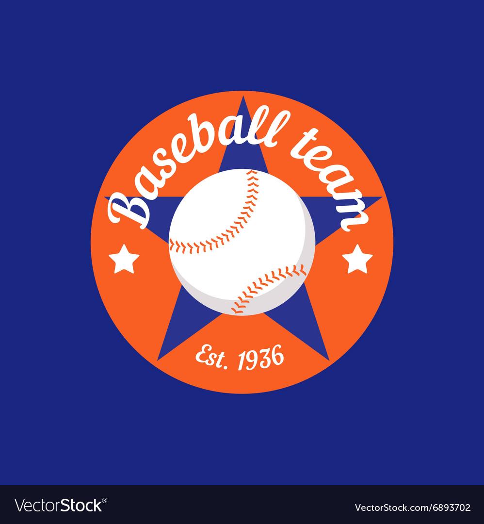 Vintage color baseball championship logo or badge vector image