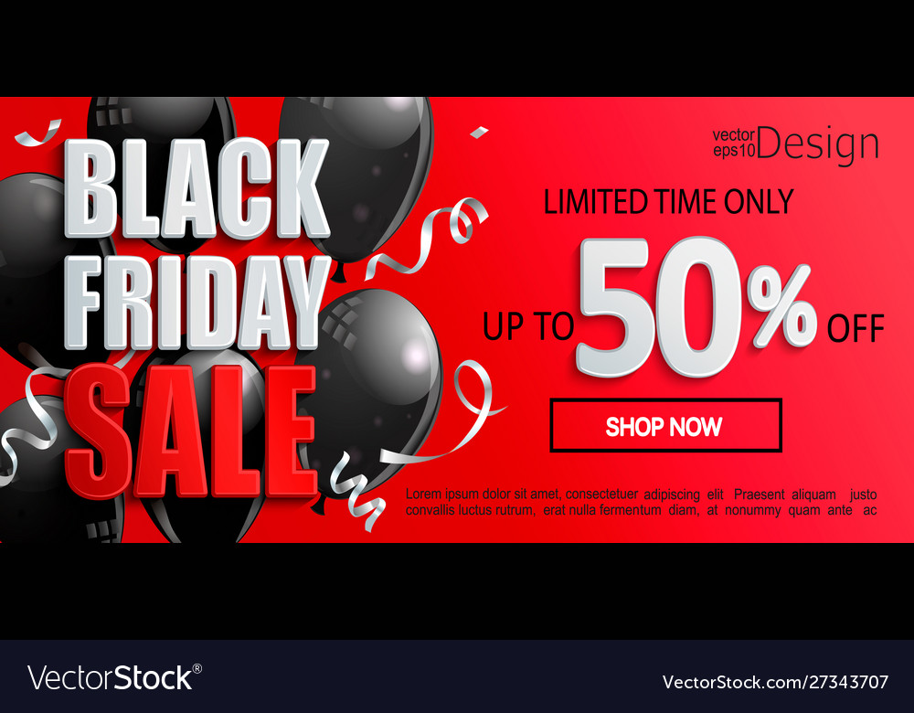Black friday sale banner inviting to shopping