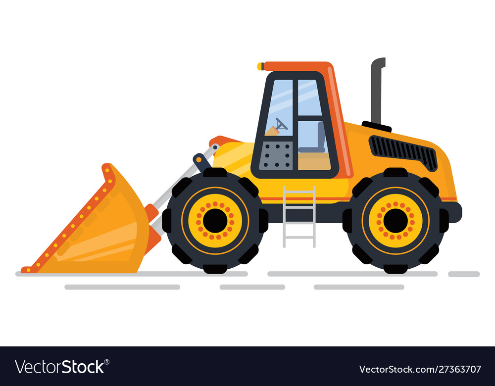 Bulldozer or excavator machinery for building