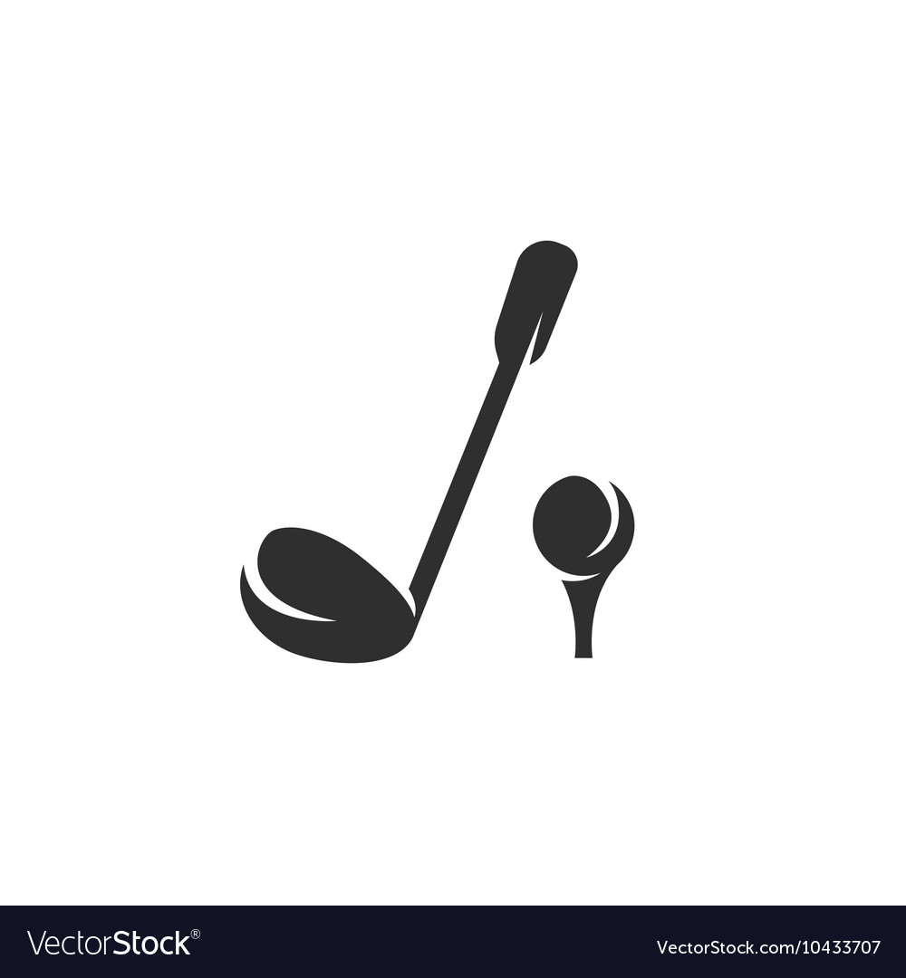 Golf icon isolated on a white background