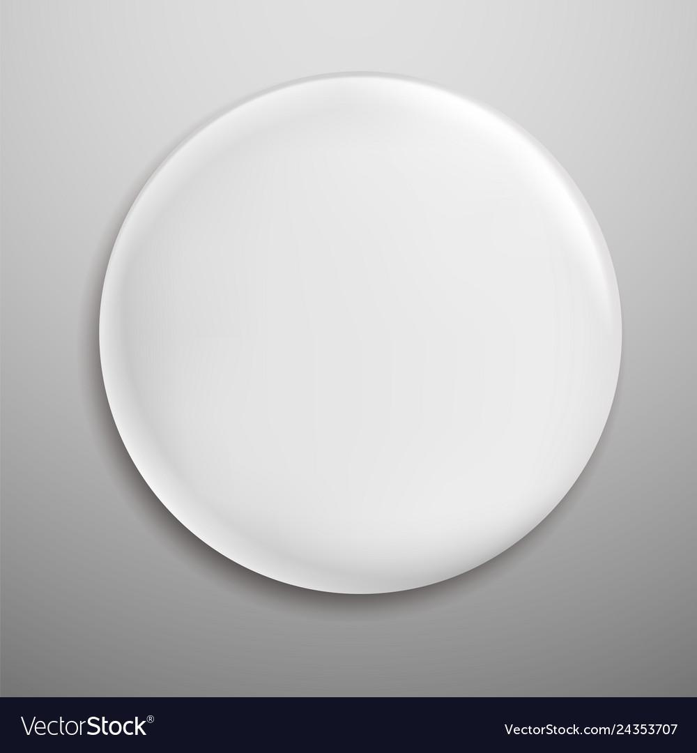 Pin badge white blank round metal button circle