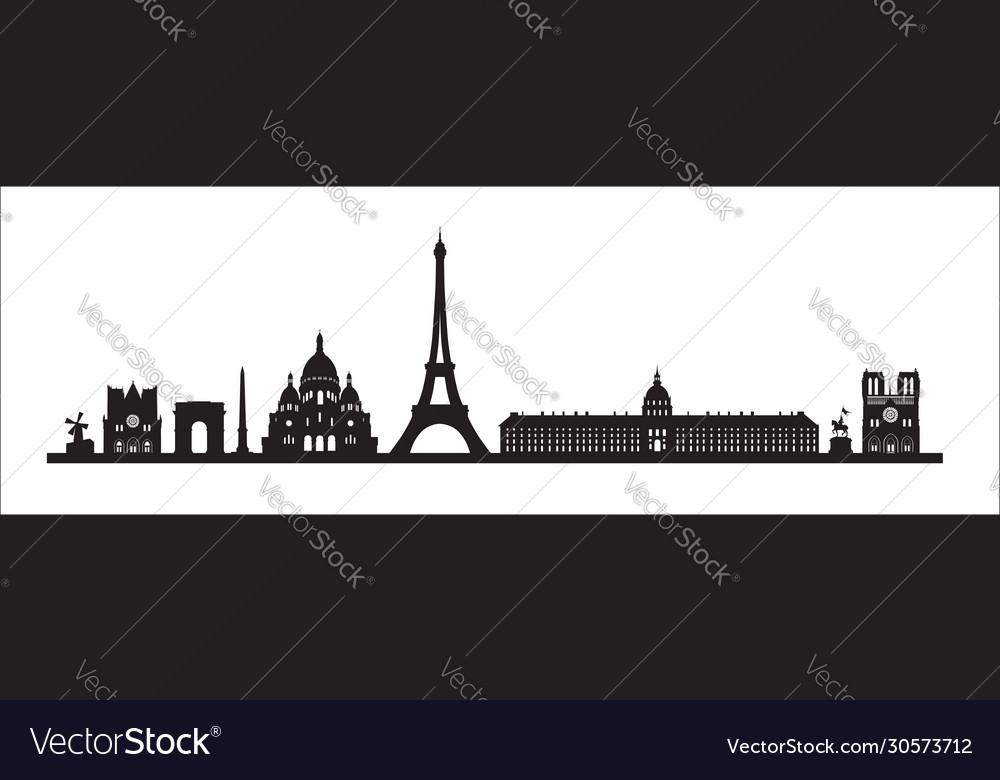 Paris skyline background paris famous landmark