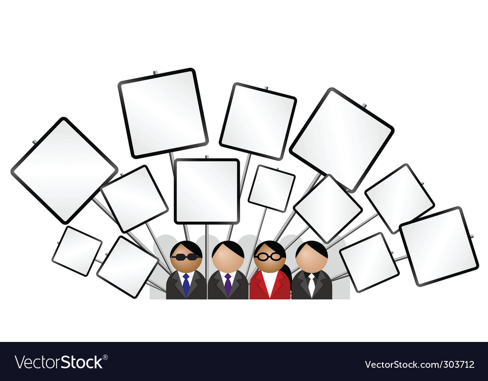 Placard blank vector image