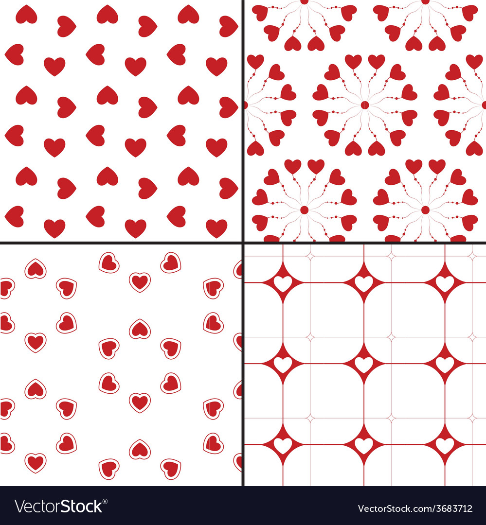 Seamless pattern with hearts repeating texture