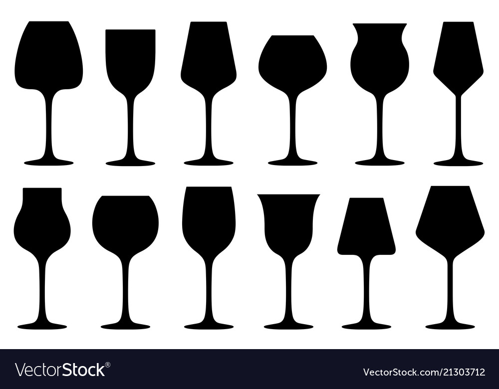 41bbc4b6d2b Set of different wine glasses Royalty Free Vector Image