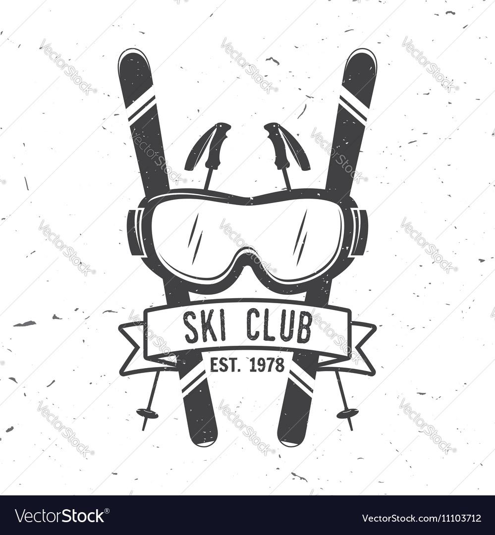 Ski club concept with skier
