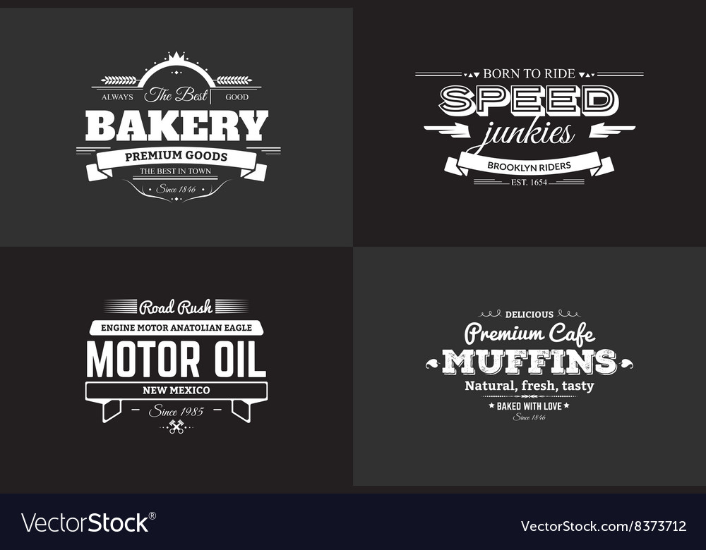 Typography bakery and rider t-shirt design set