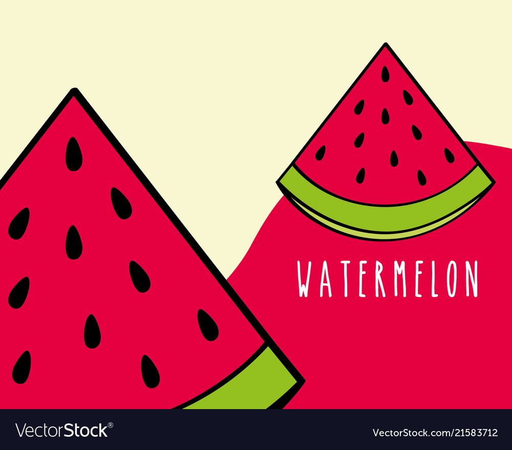 Watermelon fruit tropical fresh natural on colored