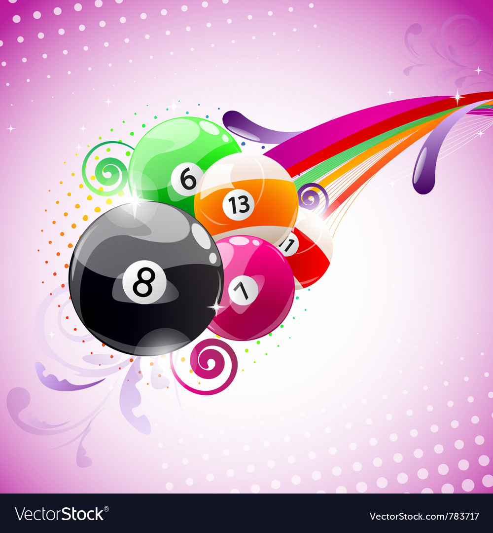 Abstract billiards background
