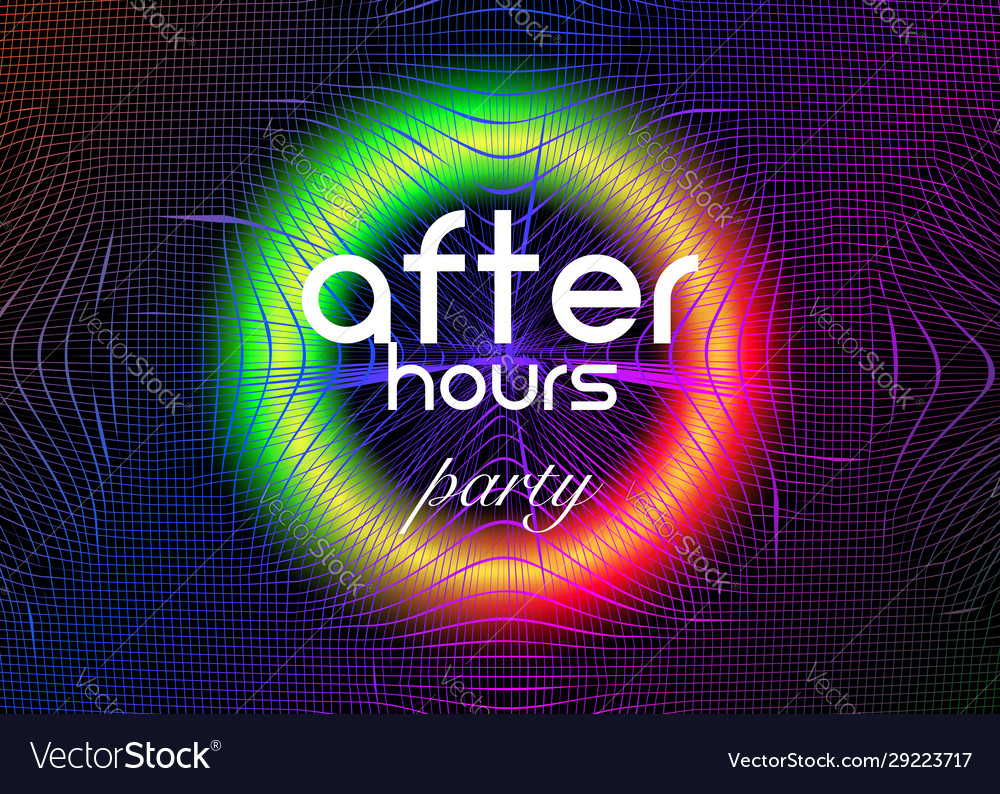 After hours party neon disco party fluid music