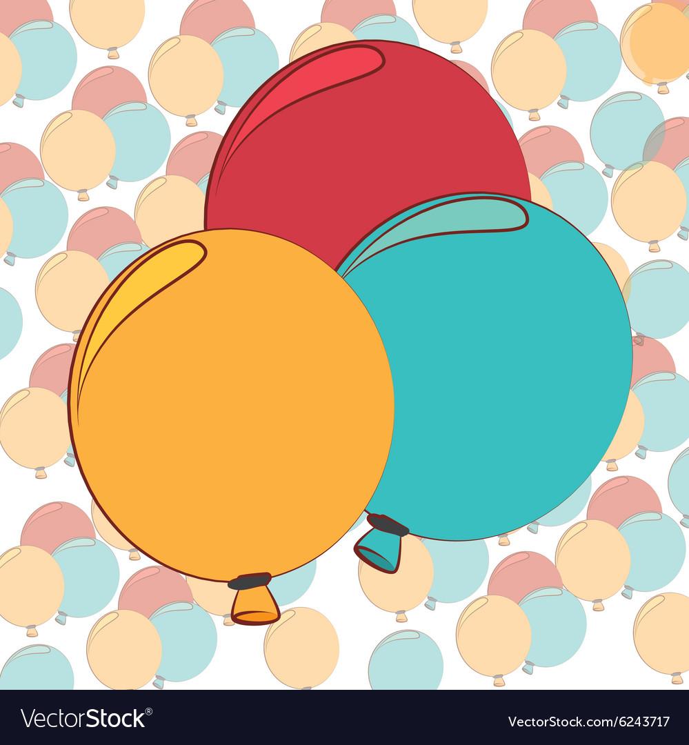 Balloons air deco Royalty Free Vector Image - VectorStock