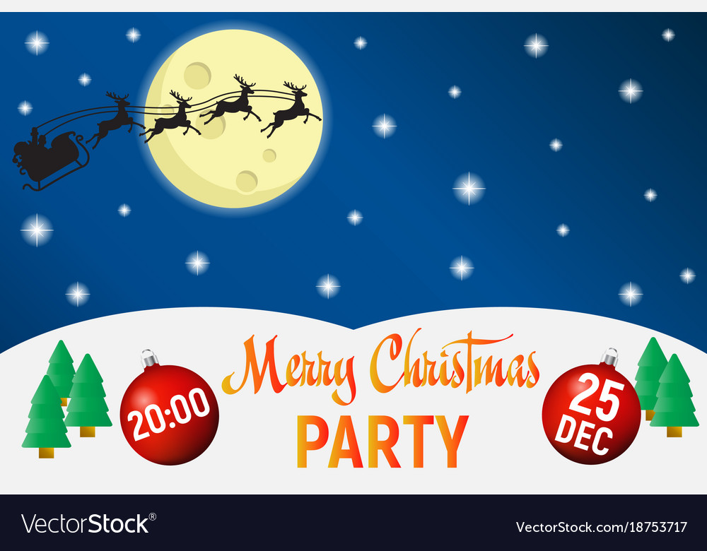 Christmas party poster template background