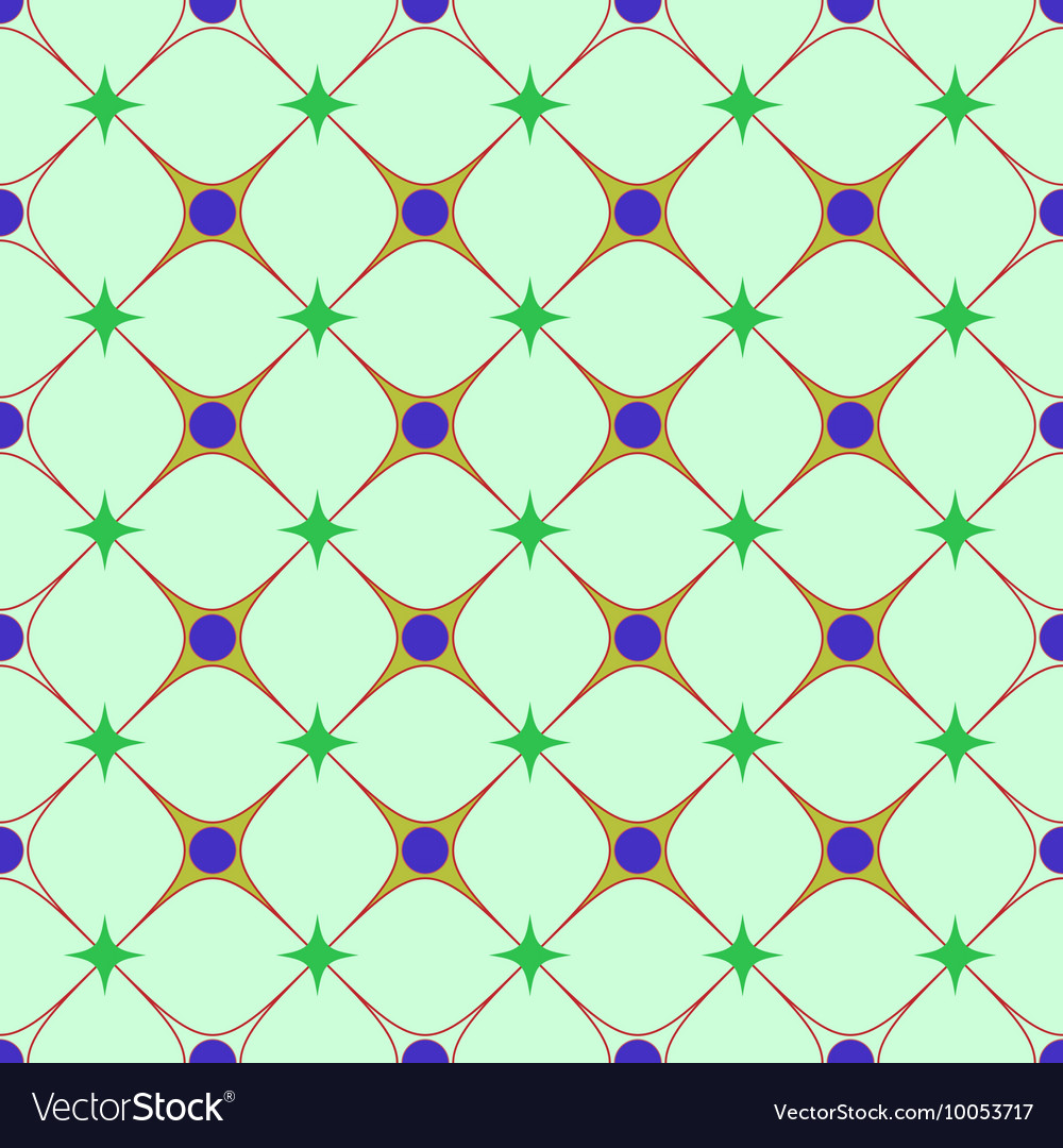 Circle and rhombus seamless pattern